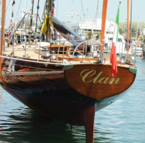 Classic Sailing Yacht Clan Hard Standing