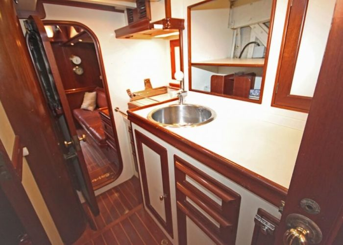 Classic Sailing Yacht Ivanhoe Galley Aft To Saloon
