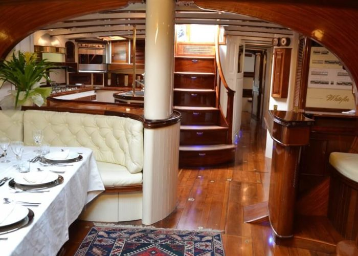 Classic Sailing Yacht Whitefin Dining