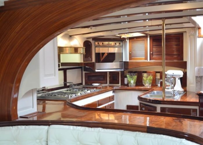 Classic Sailing Yacht Whitefin Galley