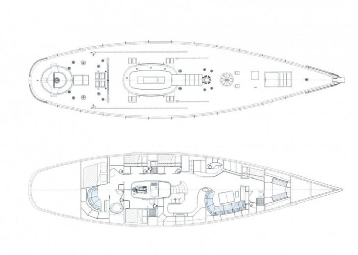 Classic Sailing Yacht Whitefin Layout