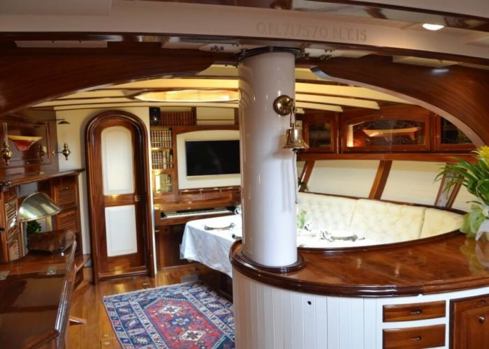 Classic Sailing Yacht Whitefin Saloon
