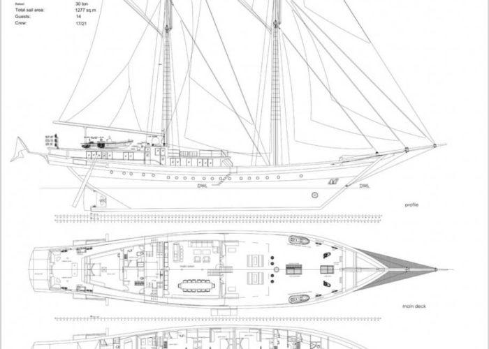 Classic Sailing Yacht Lamima Layout