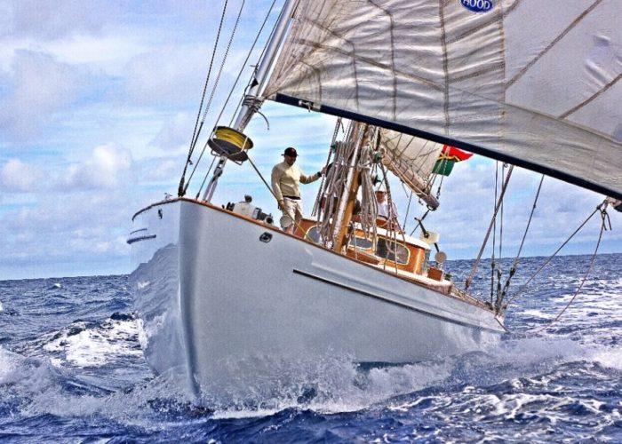 Classic Sailing Yacht Kahurangi Bow Shot