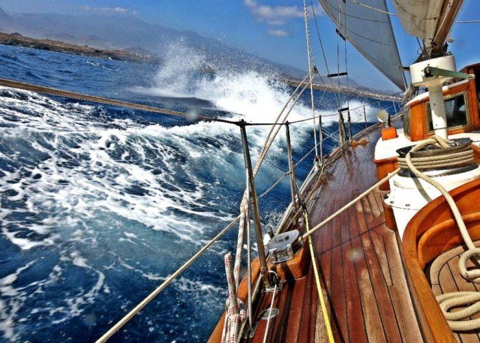Classic Sailing Yacht Kahurangi Side Deck