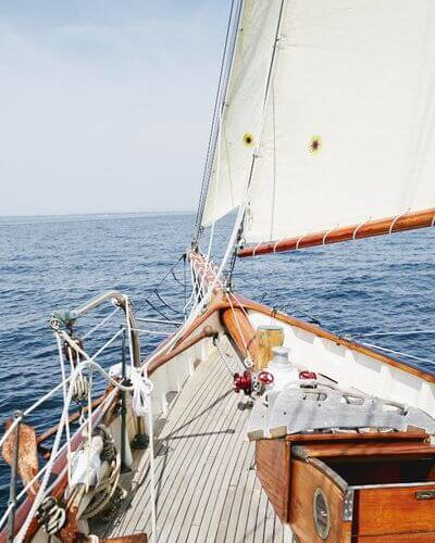 Classic Sailing Yacht When And If Bow Deck