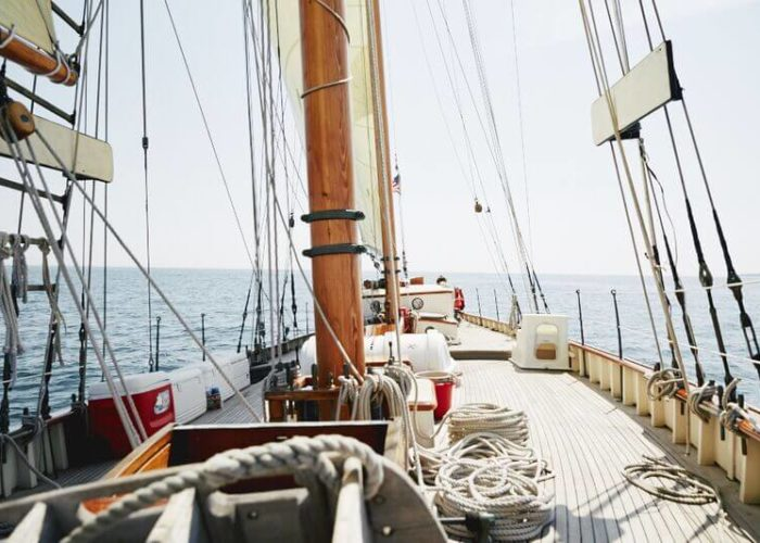 Classic Sailing Yacht When And If Overall Deck View