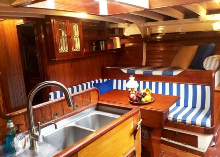 Classic Sailing Yacht When And If Saloon