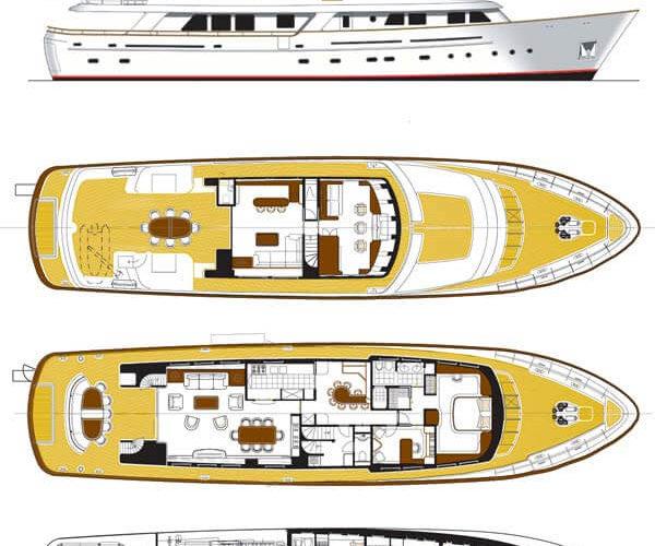 Classic Motor Yacht Cornelia Layout