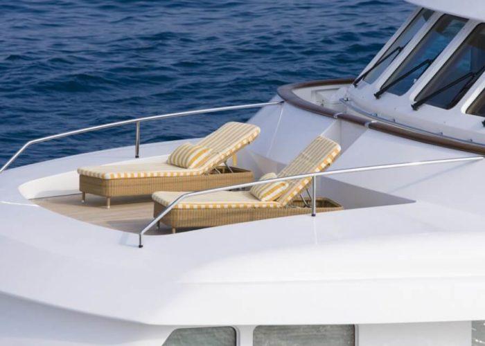 Classic Motor Yacht Cornelia Sunbathing Forward