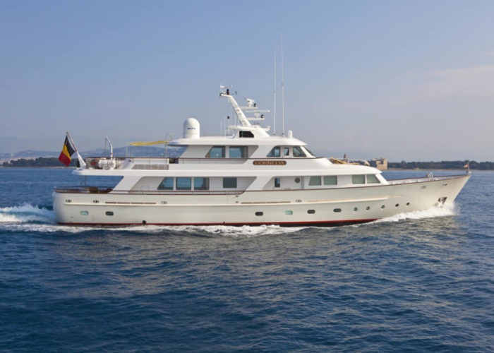 Classic Motor Yacht Cornelia Under Power