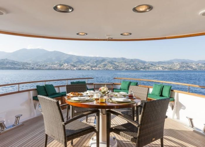 Classic Motor Yacht South Paw C Aft Deck