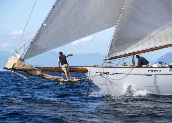 Classic Sailing Yacht Puritan Bowsprit