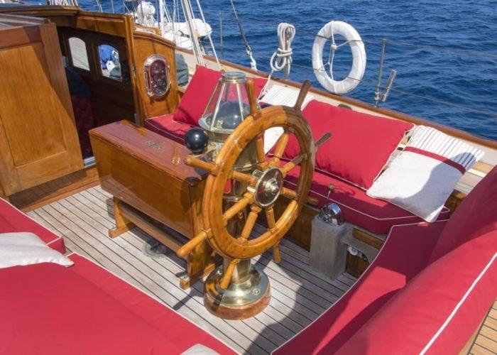 Classic Sailing Yacht Puritan Helm