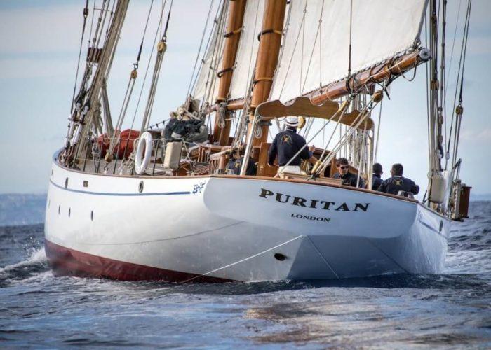 Classic Sailing Yacht Puritan Stern