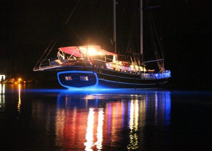 Classic Sailing Yacht Nostra Vita At Night