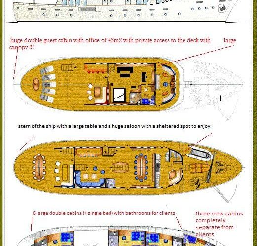 Classic Motor Yacht Donna Del Mare Layout