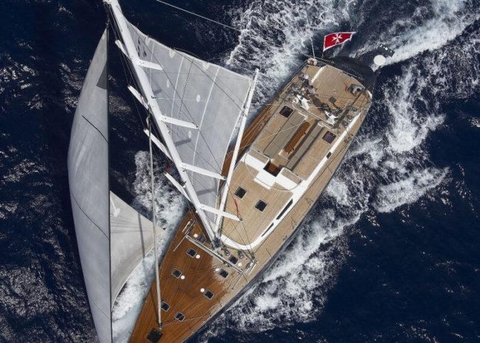 Classic Sailing Yacht Noheea Aerial