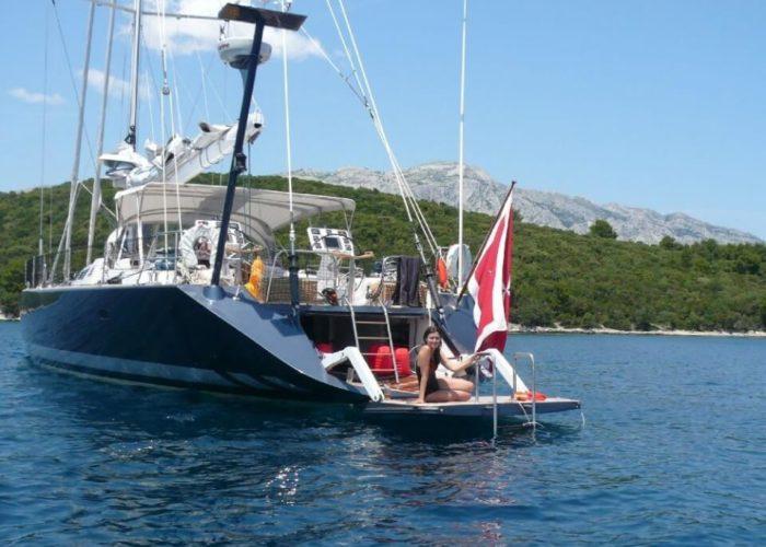 Classic Sailing Yacht Noheea Bathing Platform