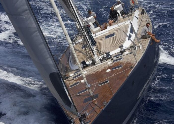 Classic Sailing Yacht Noheea Bow View