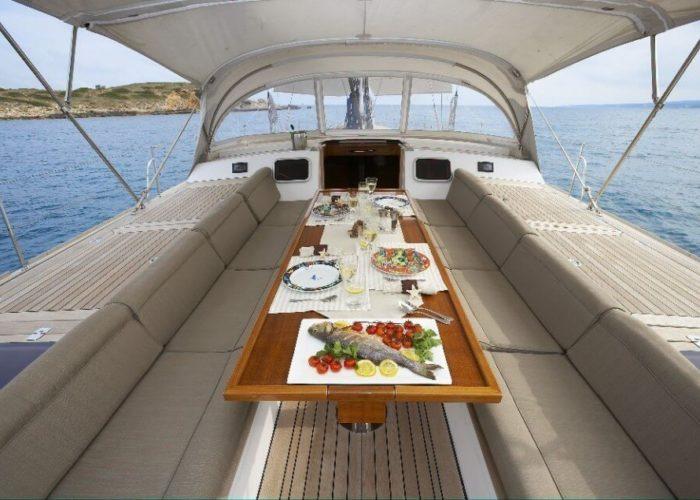 Classic Sailing Yacht Noheea Cockpit