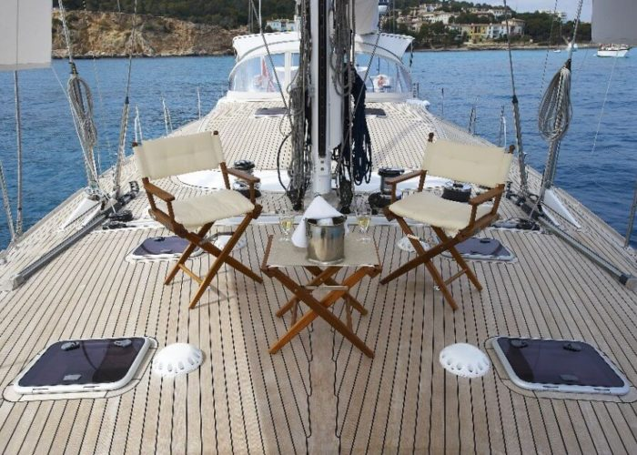 Classic Sailing Yacht Noheea Foredeck