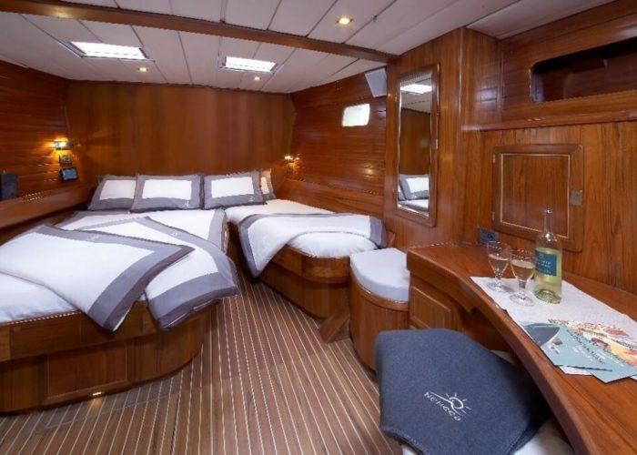 Classic Sailing Yacht Noheea Master Cabin