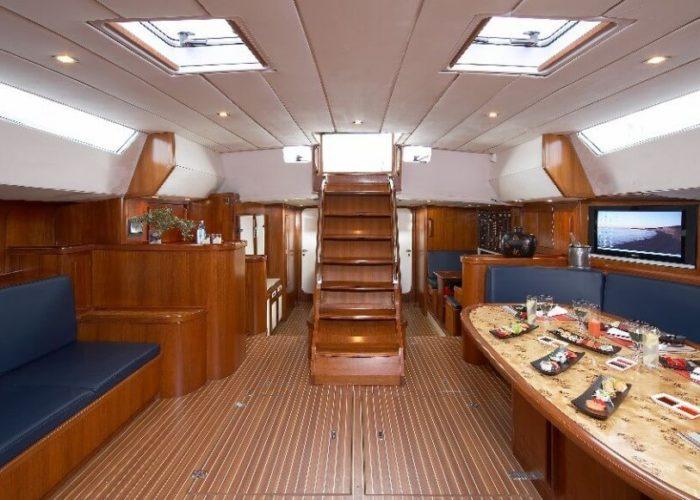Classic Sailing Yacht Noheea Saloon
