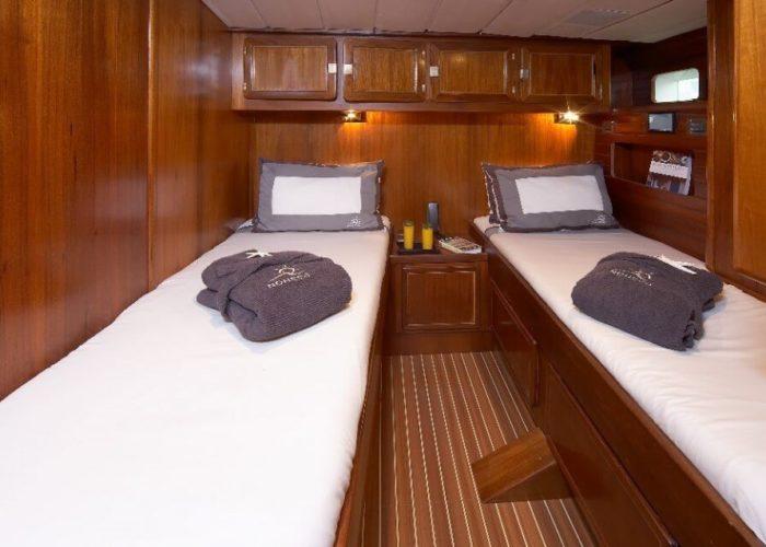 Classic Sailing Yacht Noheea Twin Cabin