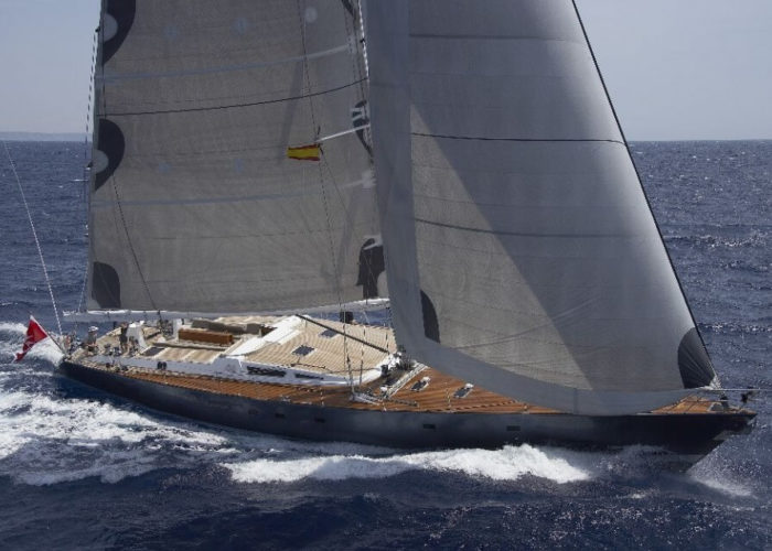Classic Sailing Yacht Noheea Under Sail