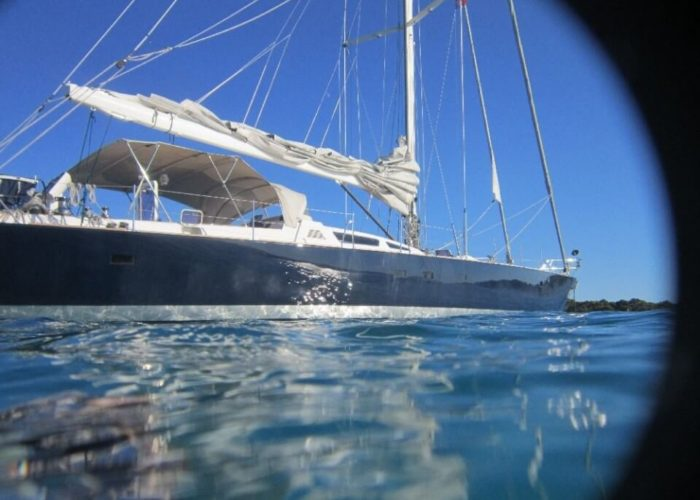 Classic Sailing Yacht Noheea View From Waterline
