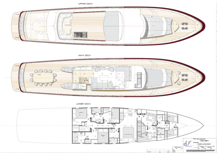 motor yacht Conquest layout