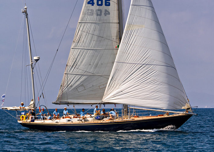Classic Sailing Yacht Kira Under Sail
