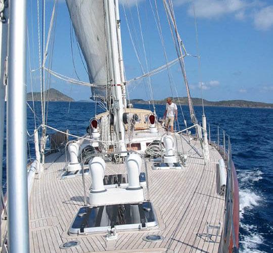 Classic Sailing Yacht Volador Deck