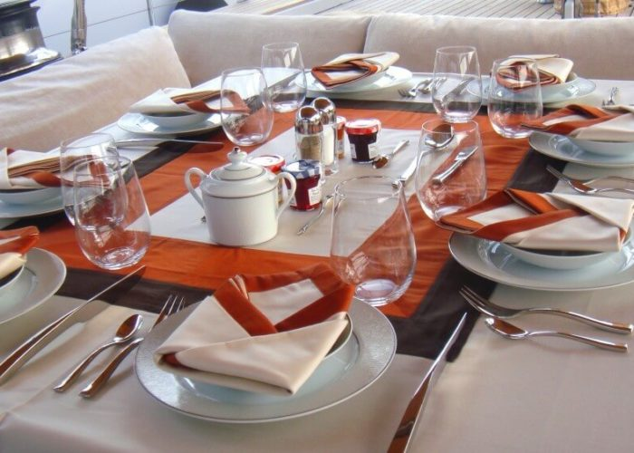 Classic Sailing Yacht Volador Dining