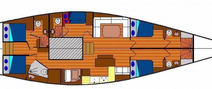 Classic Sailing Yacht Volador Layout
