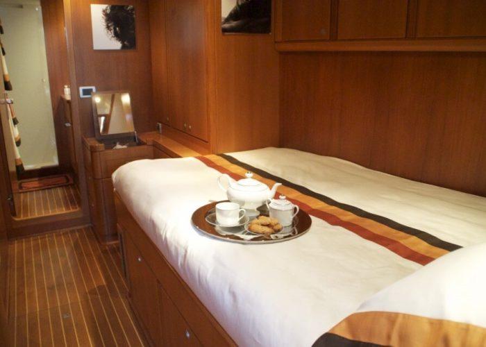 Classic Sailing Yacht Volador Master Cabin