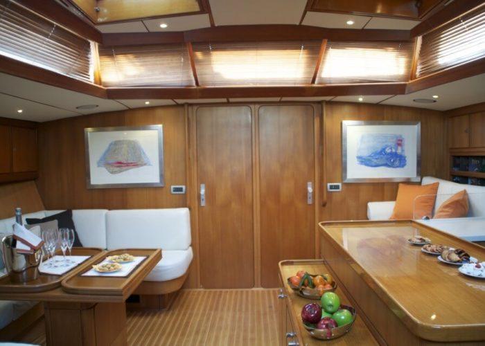 Classic Sailing Yacht Volador Saloon