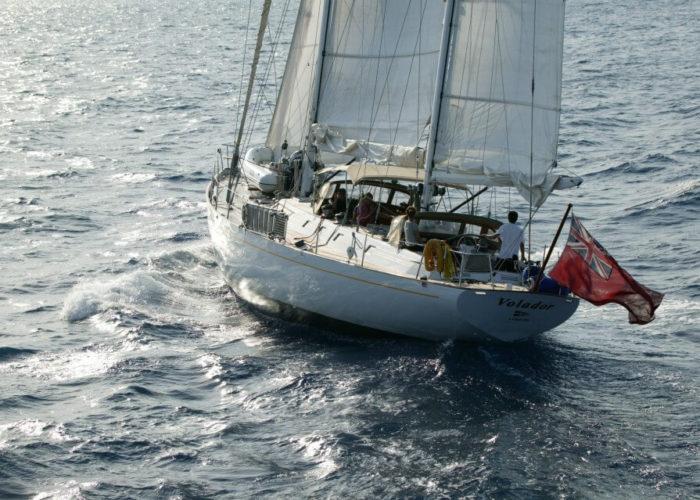 Classic Sailing Yacht Volador Stern