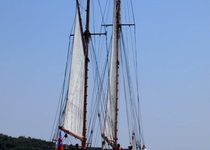 Classic Sailing Yacht Circe At Anchor