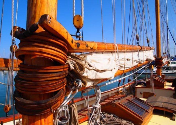 Classic Sailing Yacht Circe Deck