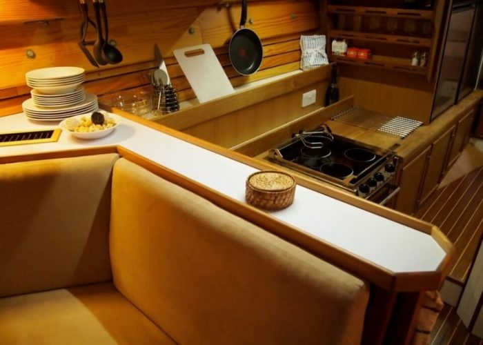 Classic Sailing Yacht Circe Galley