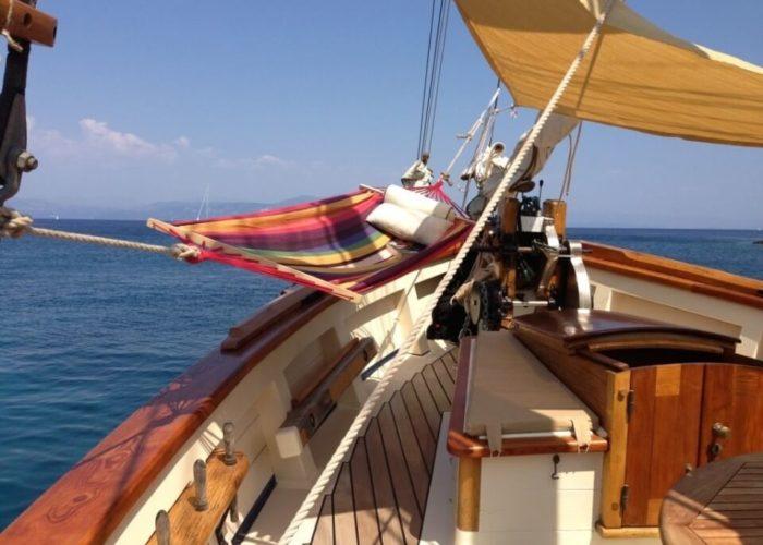 Classic Sailing Yacht Circe Hammock