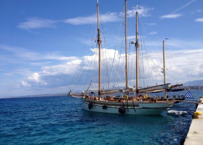 Classic Sailing Yacht Circe On Quay