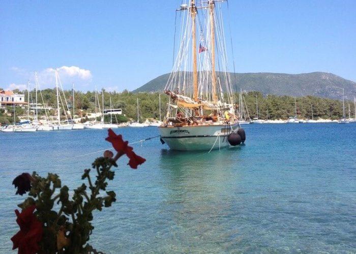 Classic Sailing Yacht Circe Stern View