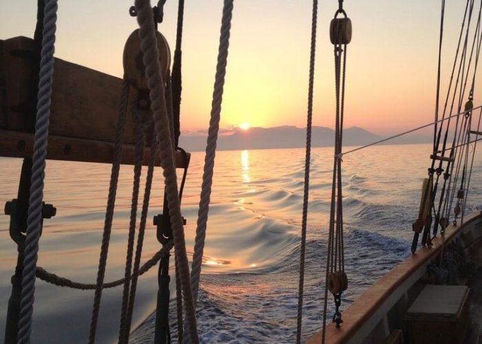 Classic Sailing Yacht Circe Sunset