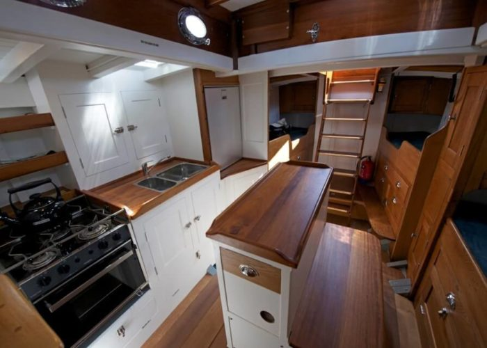 Classic Sailing Yacht Heron II Saloon