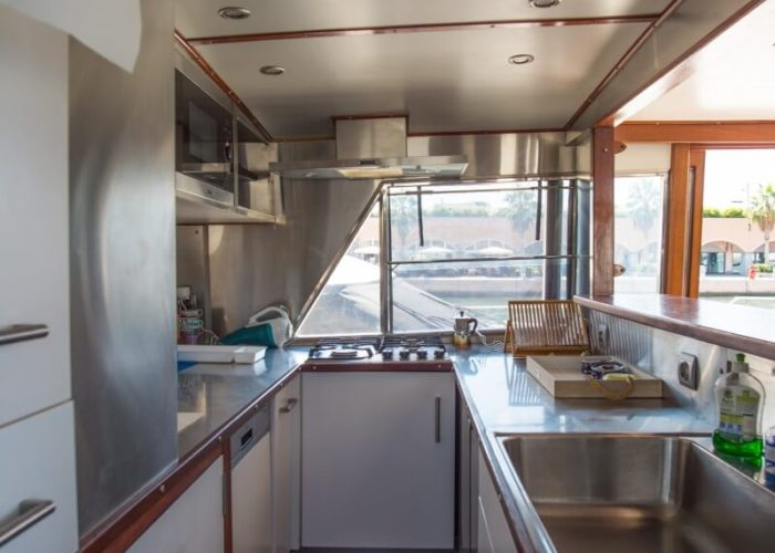 Classic Motor Yacht Bayview Galley
