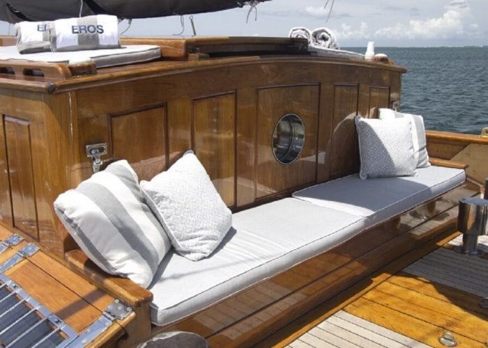 Classic Sailing Yacht Eros Seating On Deck