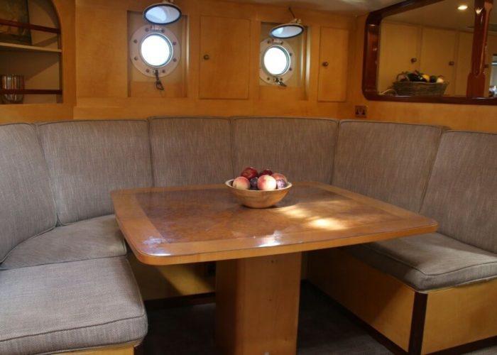 Classic Sailing Yacht Windweaver of Pennington Inside Dining
